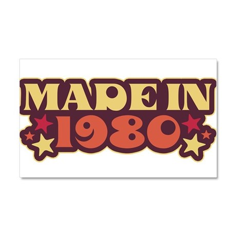 Made in 1980 Car Magnet 20 x 12