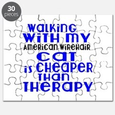 Walking With My american wirehair Cat Puzzle