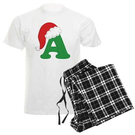 Christmas Letter A Alphabet Men's Light Pajamas