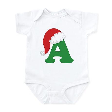 Christmas Letter A Alphabet Infant Bodysuit