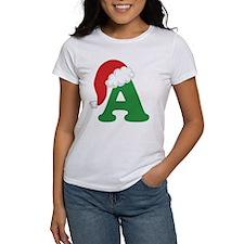 Christmas Letter A Alphabet Tee