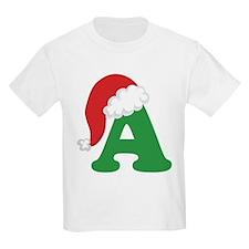 Christmas Letter A Alphabet T-Shirt