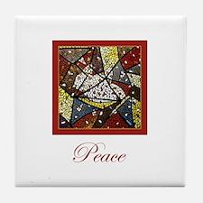 Peace Dove Christmas Tile Coaster