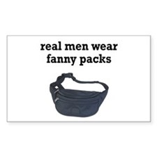 Fanny Packs Rectangle Decal