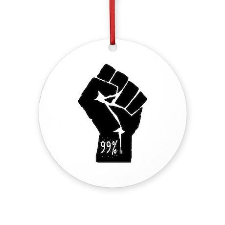 99 % Fist Ornament (Round)