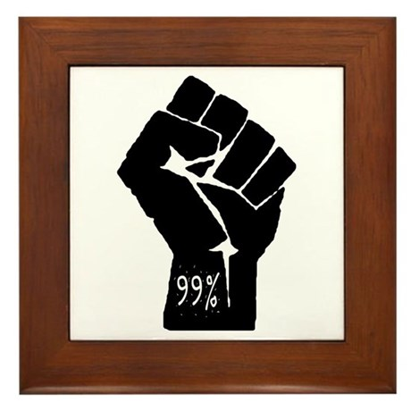 99 % Fist Framed Tile