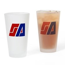 Space Academy Logo Drinking Glass