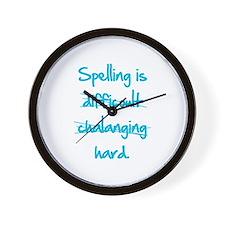 Spelling Wall Clock