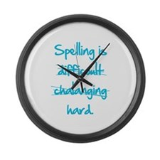 Spelling Large Wall Clock