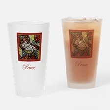 Peace Dove Christmas Drinking Glass