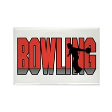 Bowling 2 Rectangle Magnet