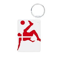 Denmark Soccer Keychains