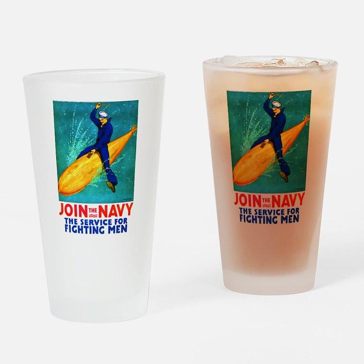 Torpedo Lad Drinking Glass