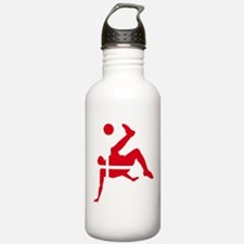 Denmark Soccer Water Bottle