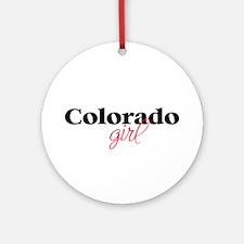 Colorado girl (2) Ornament (Round)