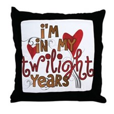Funny Twilight Years Throw Pillow
