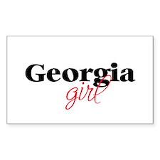 Georgia girl (2) Rectangle Decal