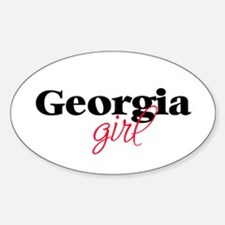 Georgia girl (2) Oval Decal