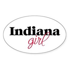 Indiana girl (2) Oval Decal