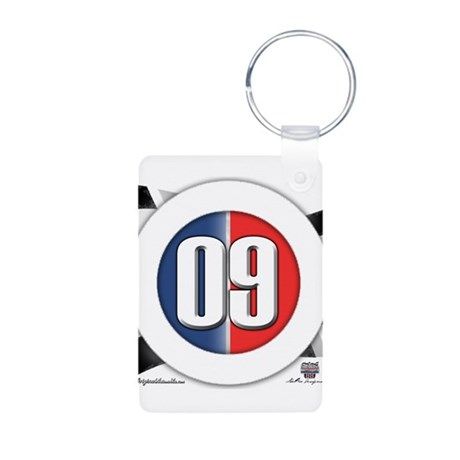 Cars Round Logo 09 Aluminum Photo Keychain