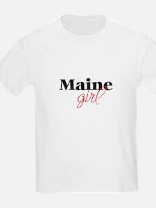 Maine girl (2) Kids T-Shirt