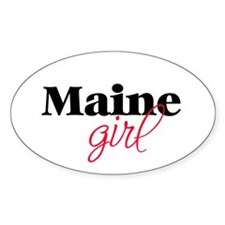 Maine girl (2) Oval Decal