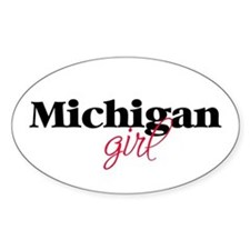 Michigan girl (2) Oval Decal