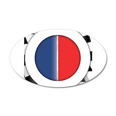 Cars Round Logo Blank 22x14 Oval Wall Peel