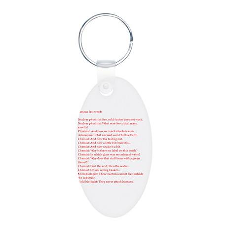 funny genius jokes Aluminum Oval Keychain