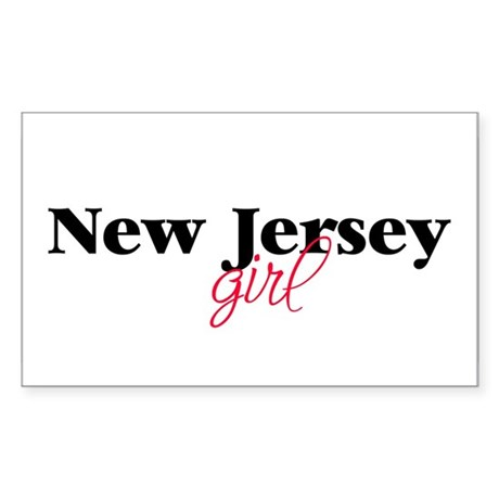 New Jersey girl (2) Rectangle Sticker