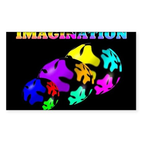 Jmcks Imagination Sticker (Rectangle)