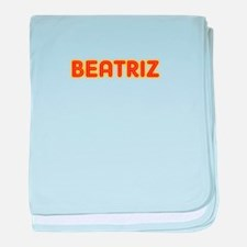 Beatriz in Movie Lights baby blanket