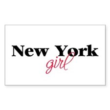 New York girl (2) Rectangle Decal