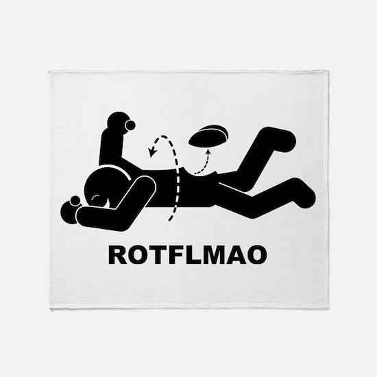 ROTFLMAO Throw Blanket