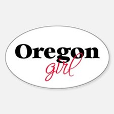 Oregon girl (2) Oval Decal