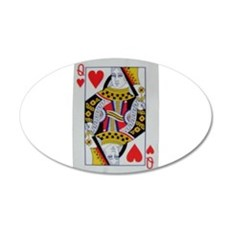 QUEEN OF HEARTS 22x14 Oval Wall Peel