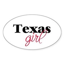 Texas girl (2) Oval Decal