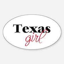 Texas girl (2) Oval Decal