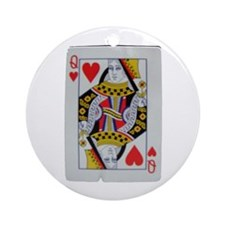QUEEN OF HEARTS Ornament (Round)