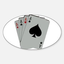 FOUR ACES™ Sticker (Oval)