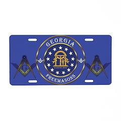 Georgia Masons Aluminum License Plate