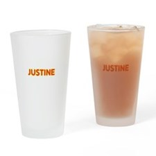 Justine in Movie Lights Drinking Glass