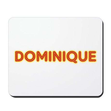 Dominique in Movie Lights Mousepad