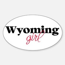 Wyoming girl (2) Oval Decal