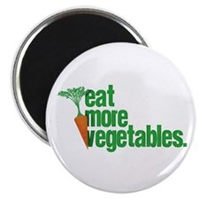 "Eat More Vegetables 2.25"" Magnet (10 pack)"
