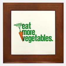 Eat More Vegetables Framed Tile