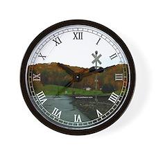 Fall Colors Railroad Crossing - Wall Clock