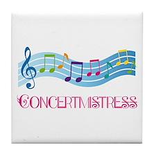 Concertmistress Musical Tile Coaster