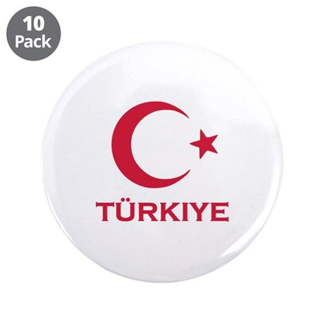 "Turkey 3.5"" Button (10 pack)"
