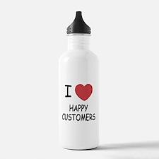 I heart happy customers Water Bottle